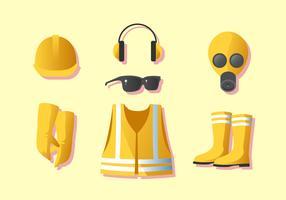 Vetor de equipamento de proteção do trabalhador pessoal