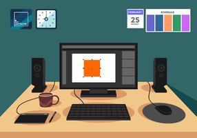Ilustração de vetor de software de Design gráfico