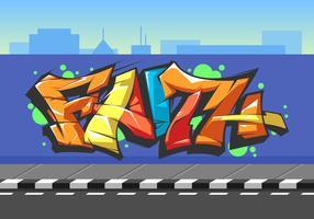 Vetor de graffiti de fé