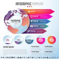 Modelo de design de infografia