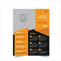 modelo de design de folheto corporativo vetor