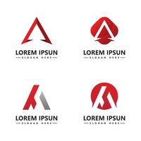 um modelo de vetor de ícone de logotipo de carta
