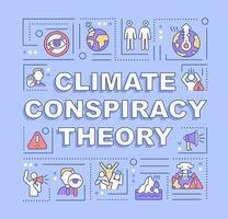 banner de conceitos de palavras de teoria da conspiração climática vetor