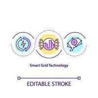 ícone do conceito de tecnologia de smart grid vetor