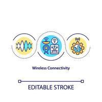 ícone do conceito de conectividade sem fio vetor
