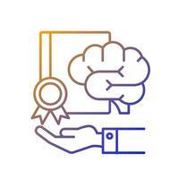 ícone de vetor linear gradiente de propriedade intelectual corporativa