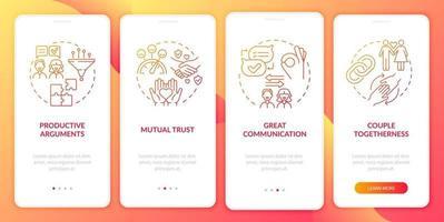 tela da página do aplicativo móvel de integração de relacionamento maduro vetor