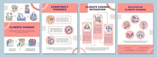modelo de folheto sobre mudança climática vetor