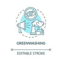ícone do conceito azul greenwashing vetor