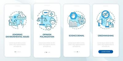 tela da página do aplicativo móvel de integração da negação da ciência vetor