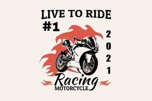design de silhueta de motocicleta de corrida vetor