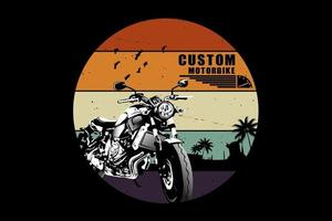 design de silhueta de motocicleta personalizado vetor