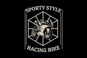 design de silhueta de bicicleta de corrida vetor