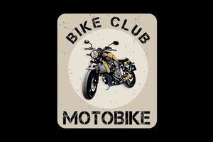 design de silhueta de motobike bike club vetor