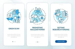 Teorias da conspiração na tela da página do aplicativo móvel vetor
