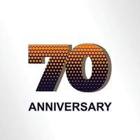 Ilustração de design de modelo vetorial elegante aniversário de 70 anos vetor