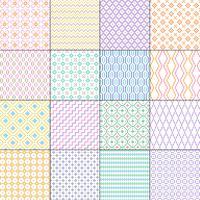 pequenos padrões geométricos sem emenda vetor