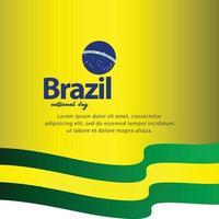 dia da independência do brasil. ilustração vetorial vetor
