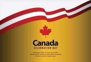 feliz dia da independência do Canadá. ilustração vetorial vetor