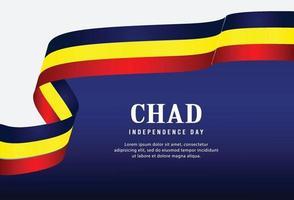 Feliz Dia da Independência do Chade. vetor