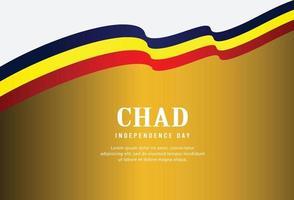 Feliz Dia da Independência do Chade. ilustração vetor