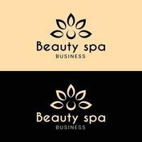 pétalas de flores abstratas para modelo de design de logotipo de spa de beleza vetor