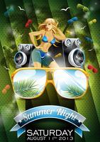 Design de festa de noite de verão