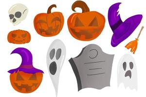 ilustração em vetor halloween stuff isolada em um fundo branco