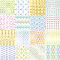 pequenos padrões sem emenda geométricos pastel vetor