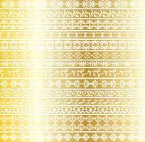 padrões de fronteira ornamentado de ouro vetor