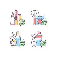 opções reutilizáveis conjunto de ícones de cores rgb vetor