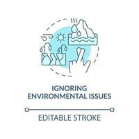 ícone de conceito azul de questão ambiental vetor
