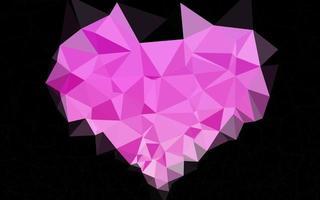 luz rosa vetor brilhando fundo triangular.