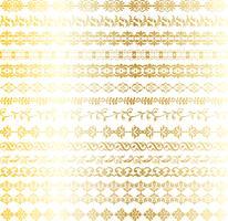 fronteiras ornamentadas de ouro vetor