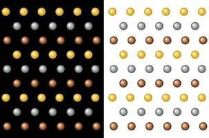 padrão de bolinhas gradiente dourado, fundo colorido de férias vetor