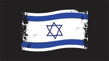 bandeira ondulada israel grunge escova vetor