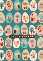 Feliz Páscoa. Modelo de vetor
