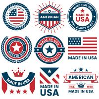 Rótulo de vetor de América para banner