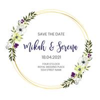 Design de moldura de casamento floral