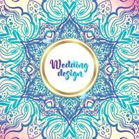 Convites ricos do casamento, estilo indiano. vetor