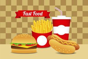 Fast food conjunto 10 vetor