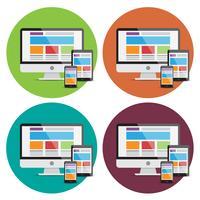 Web responsivo que desing elementos vetor