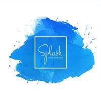 Respingo fundo aquarela azul vetor
