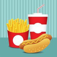 Conjunto de fast food 2 vetor
