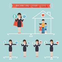Equilibrando a vida vetor