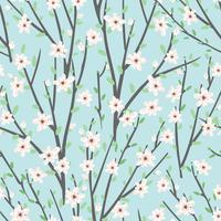 Teste padrão floral vetor com flores e ramos.
