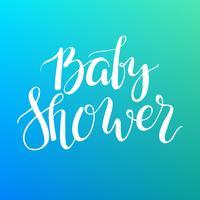 Texto de chá de bebê. Convite feito sob encomenda da rotulação para a chegada do bebê. vetor