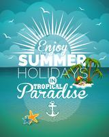 ilustração de tema de férias de verão