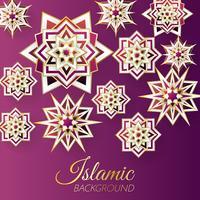 vetor de modelo de fundo islâmico