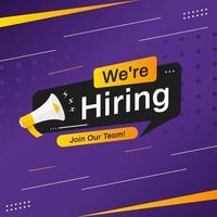 contratação de recrutamento modelo de design de cartaz de mídia social vetor